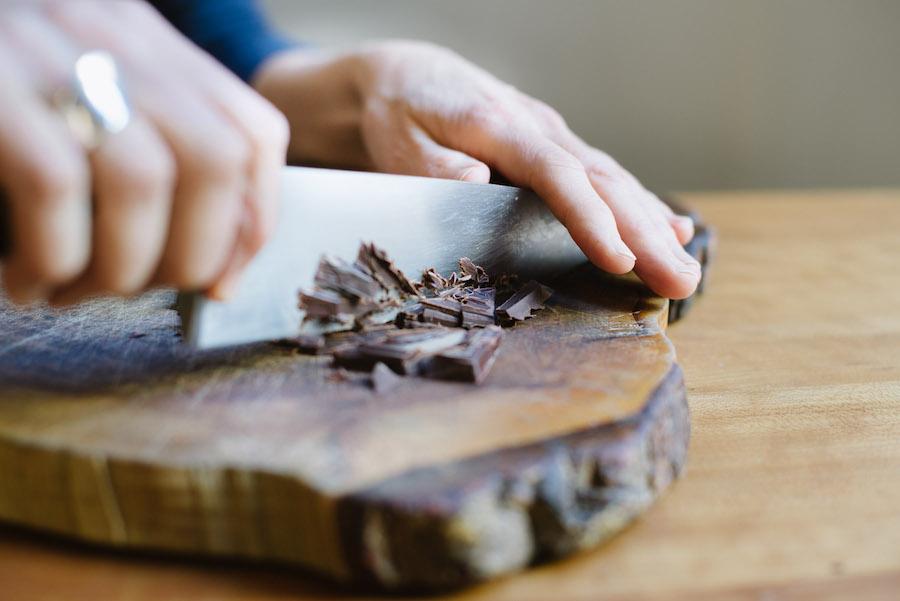 Schokolade hacken