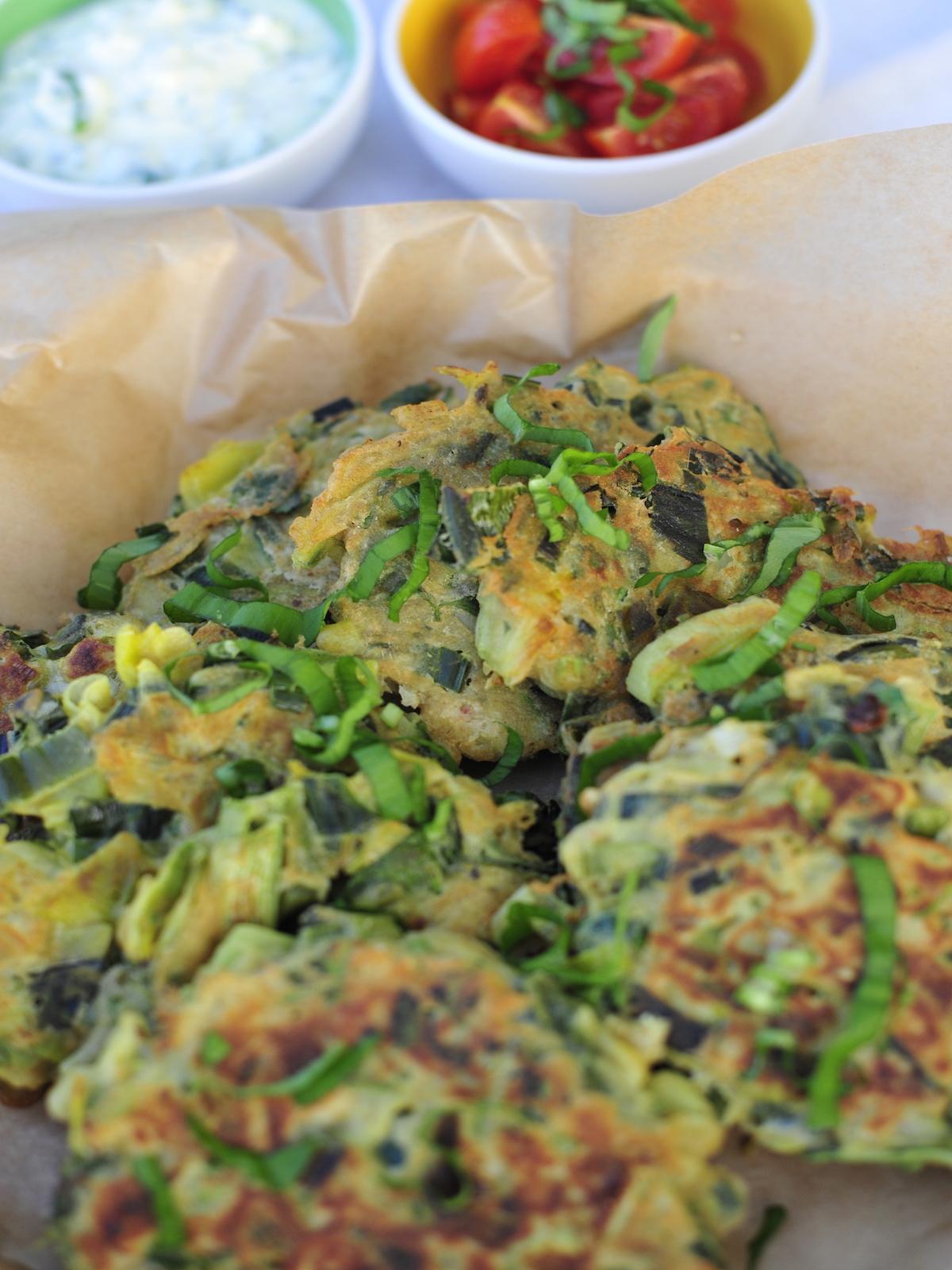 Glutenfreie Gemüsepuffer gebacken
