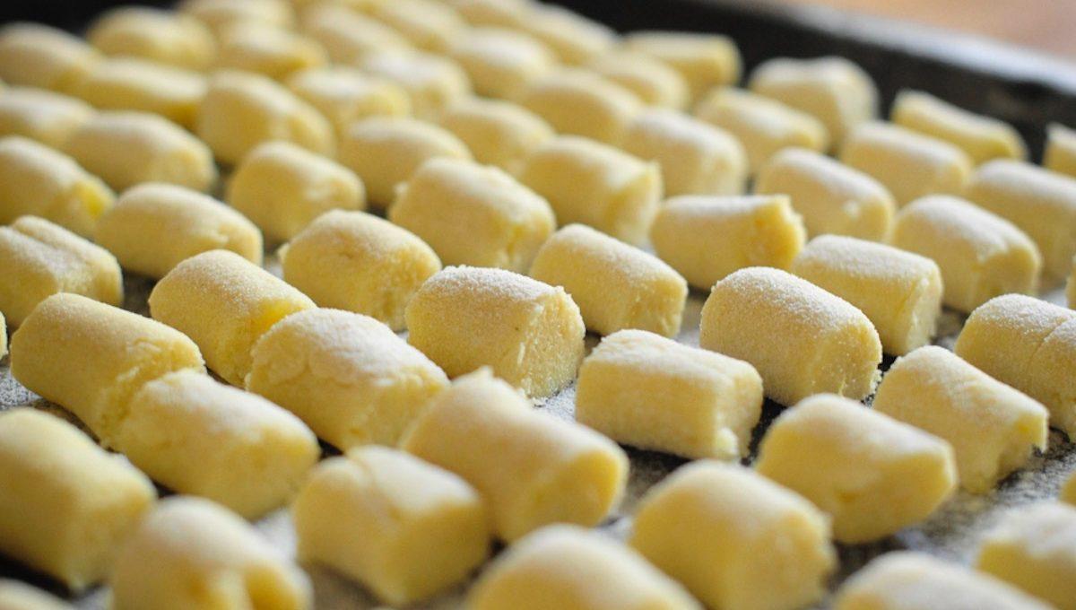 Blech mit selbstgemachten Kartoffelgnochi