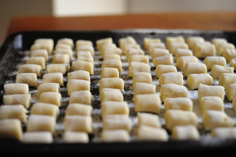 Blech mit selbstgemachten Kartoffelgnochis
